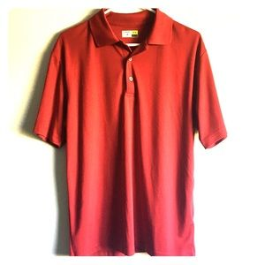 Red sport golf polo M